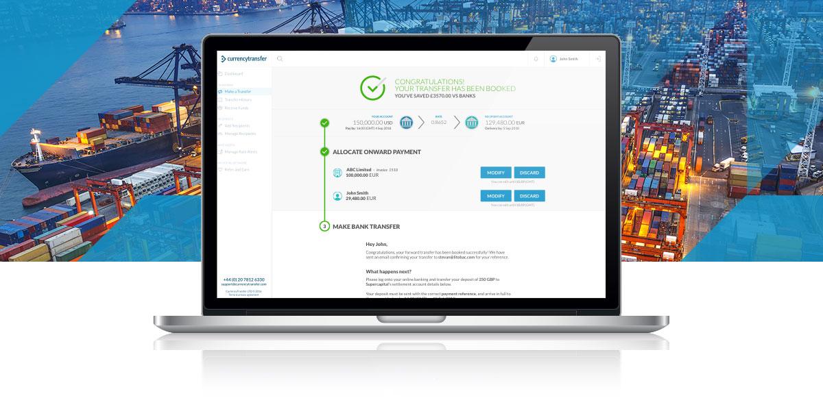 CurrencyTransfer platform for importer and exporter