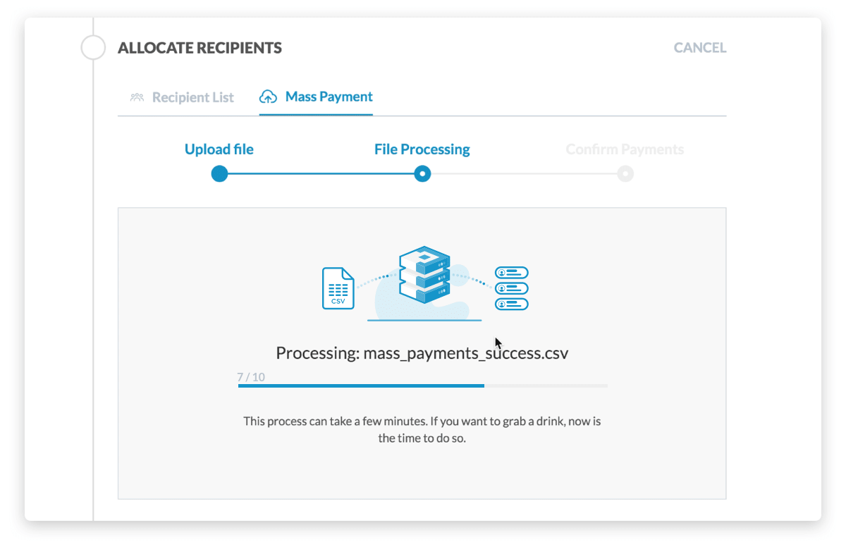 CurrencyTransfer platform processes you payment instructions
