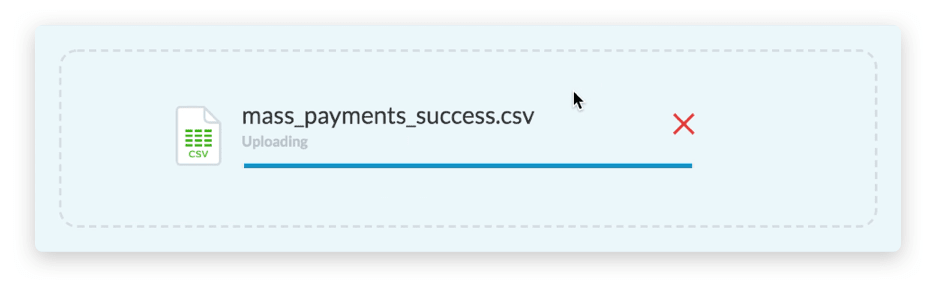 Upload process for payment instructions